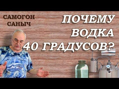 ПОЧЕМУ ВОДКА 40 градусов ? Д.И. Менделеев и М.Х. Рейтерн / Самогоноварение