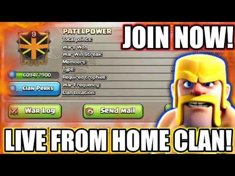 LIVE FROM MY HOME CLAN | PATEL POWER | JOIN NOW