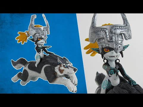 Sculpting Wolf Link and Midna from TLoZ:TP - Polymer clay tutorial