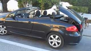 Peugeot 307 CC cabrio. Пежо кабриолет, как складывается крыша.(Peugeot 307 CC cabrio. Пежо 307 кабриолет, как складывается крыша. Механизм складывания крыши в кабриолете Пежо., 2013-10-31T20:08:17.000Z)