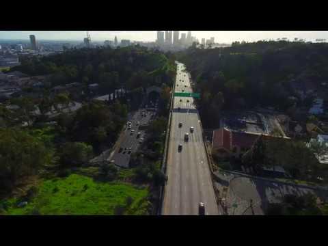 Aerial Video Of Elysian Park In Los Angeles (4k)