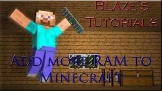 Minecraft Tutorial | H๐w to Allocate RAM (Memory) to Minecraft 1.7.2