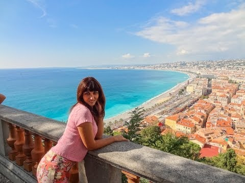 Nice, France. What A View! Small Train Tour.  Round the World Trip, 7