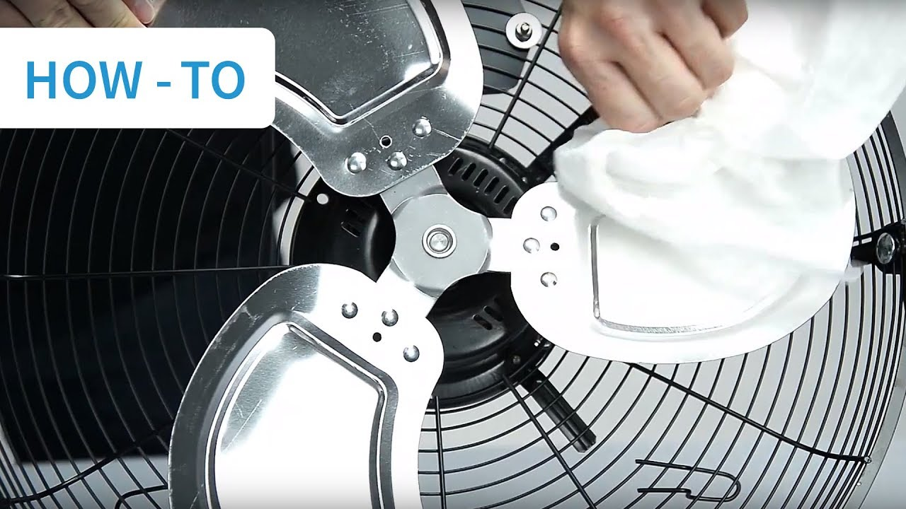 How To Clean Your Industrial Floor Fan Youtube