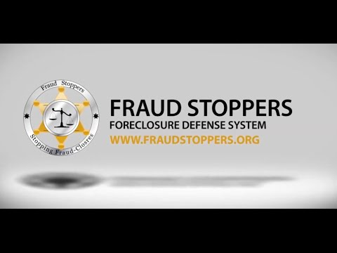 Stop Mortgage and Foreclosure Fraud with FRAUD STOPPERS PMA