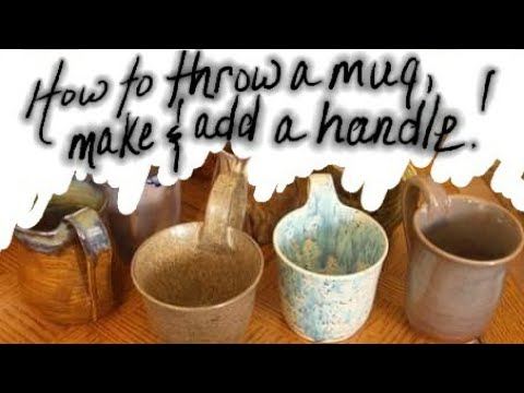 How to throw a mug, knead and fix air bubbles, pull and attach a handle the entire process