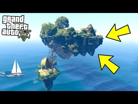 Exploring the floating Island?! (GTA 5 Mods)