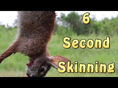 How To Skin A Rabbit In 6 SECONDS