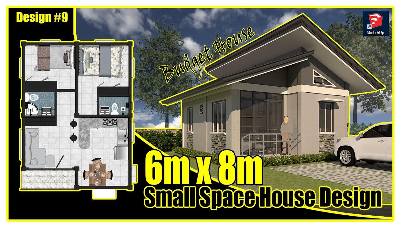 6m x 8m Small House Design Idea   Tiny House   T2 Gudz Vlog