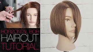 Cutting a HORIZONTAL BOB Haircut Tutorial - Back To Basics | MATT BECK VLOG 4 13 16
