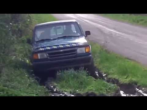 Ford Ranger Playing in Ditch