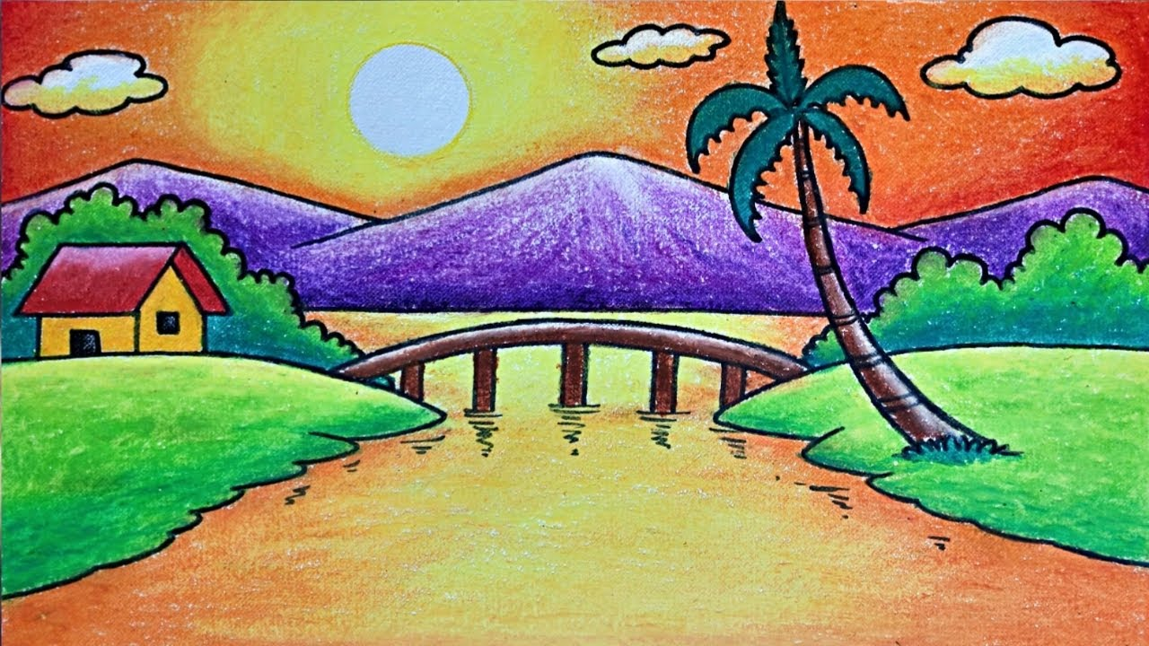 Easy Morning Scenery Drawing How To Draw Easy Scenery For Beginners Step By Step Youtube Hellow friends this is a another beautiful drawing of a village scenery in the morning ,there is a village woman was swiping nearby. easy morning scenery drawing how to draw easy scenery for beginners step by step