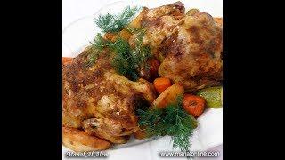 دجاج مشوي بالكيس وصفة كاملة - منال العالم