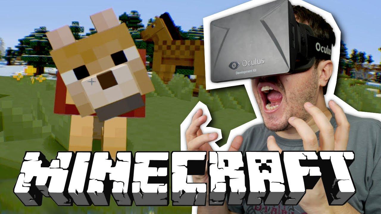 INCRÍVEL! - Minecraft + OCULUS RIFT.