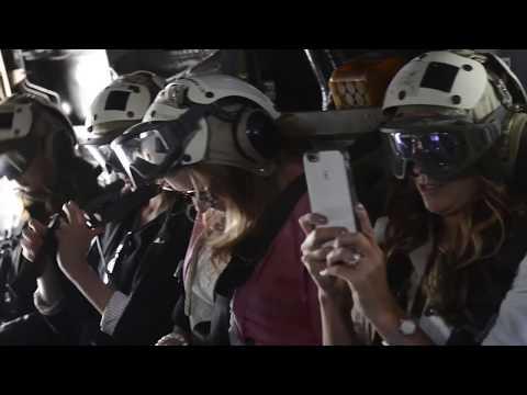 B-Roll of MV-22 Osprey Flights With Detroit Citizens