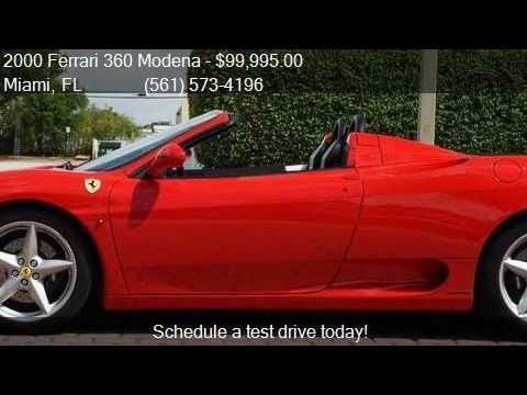 2000 Ferrari 360 Modena F1 Spider Scuderia Shields Rear Chal Youtube