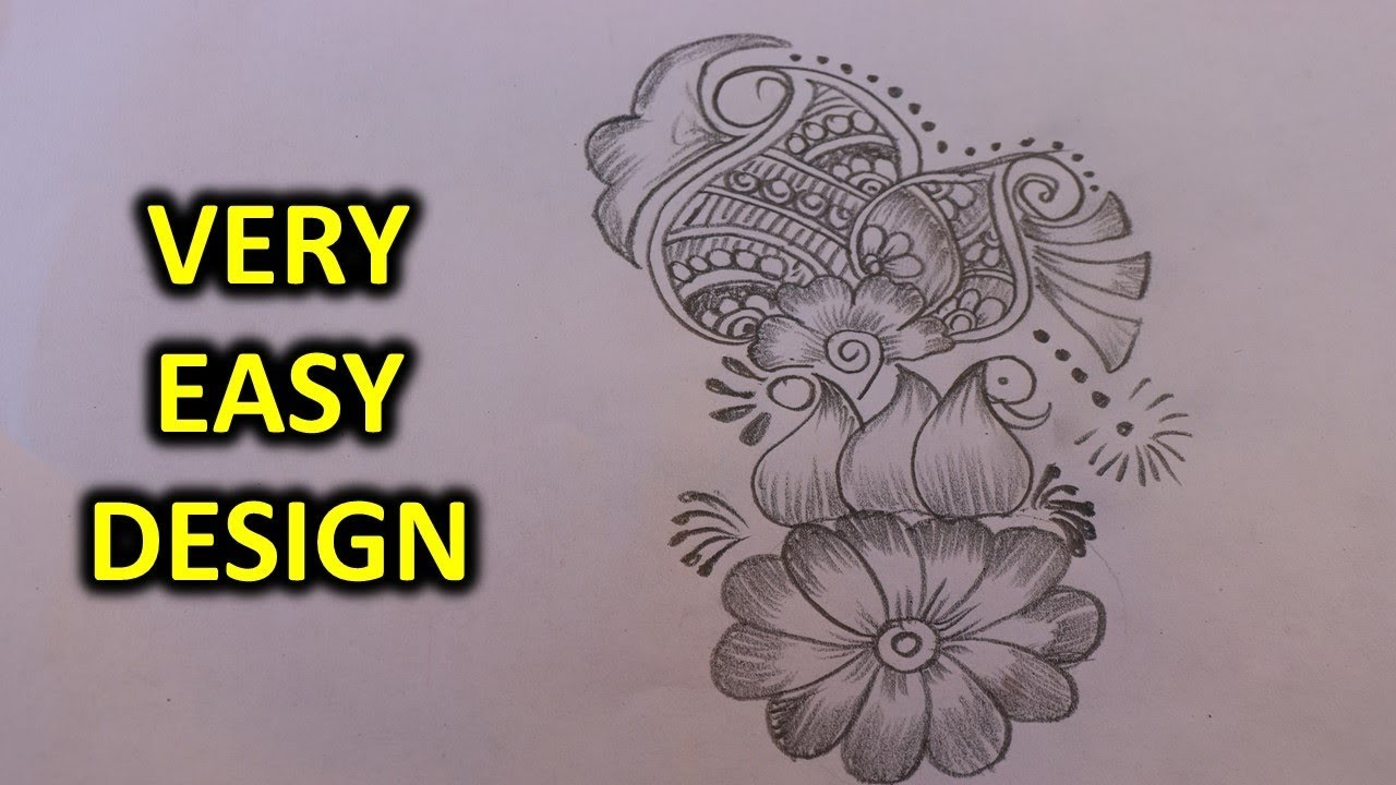 Easy Mehndi Patterns On Paper : Simple step by mehndi designs with paper pencil youtube