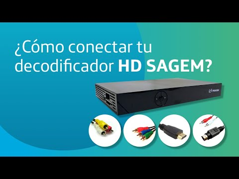 C mo conectar tu decodificador hd sagem youtube - Deco digital plus ...