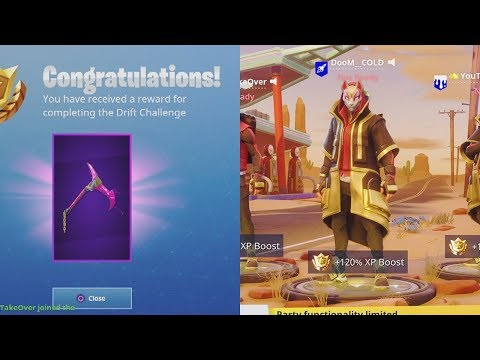 "NEW ""RIFT EDGE"" Level 45 Pickaxe + Stage 4 ""Drift"" Skin Upgrade! Fortnite Battle Royale Gameplay"