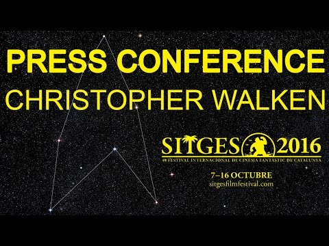 Sitges 2016: Press conference - Christopher Walken