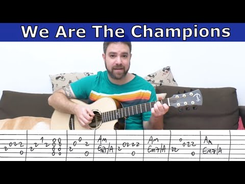 Fingerstyle Tutorial: We Are The Champions [Full Instrumental] - Guitar Lesson W/ TAB
