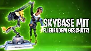 SKYBASE MIT FLIEGENDEM GESCHÜTZ! 💩   Fortnite: Battle Royale
