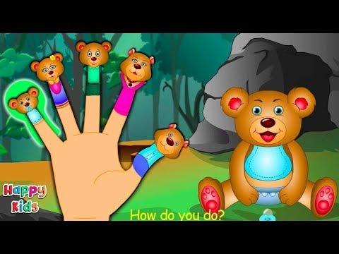 Teddy Bear Finger Family Nursery Rhyme Cartoon Songs For Children