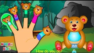 Teddy-Bär-Finger-Familie Kinderzimmer-Reim | Cartoon-Lieder Für Kinder