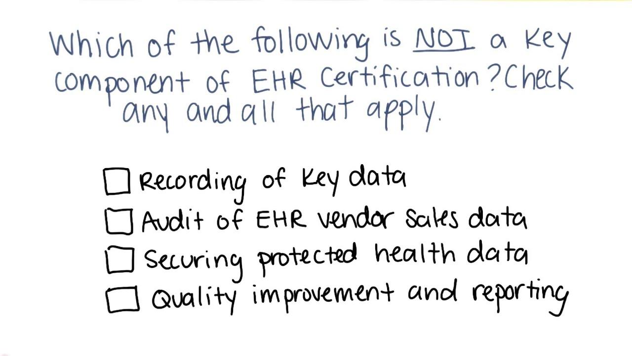 Ehr Certification Quiz Georgia Tech Health Informatics In The