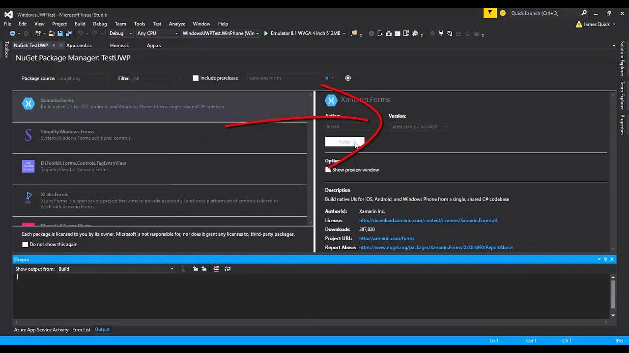 Xamarin Forms To Windows 10 Youtube