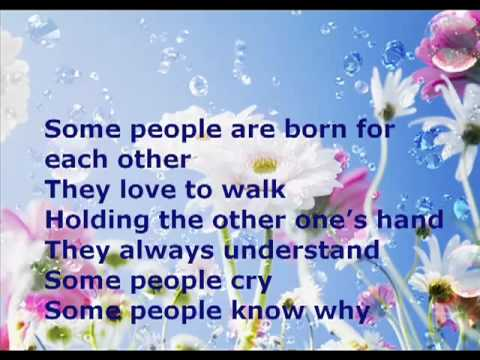 Cliff Richard Some People   with lyrics