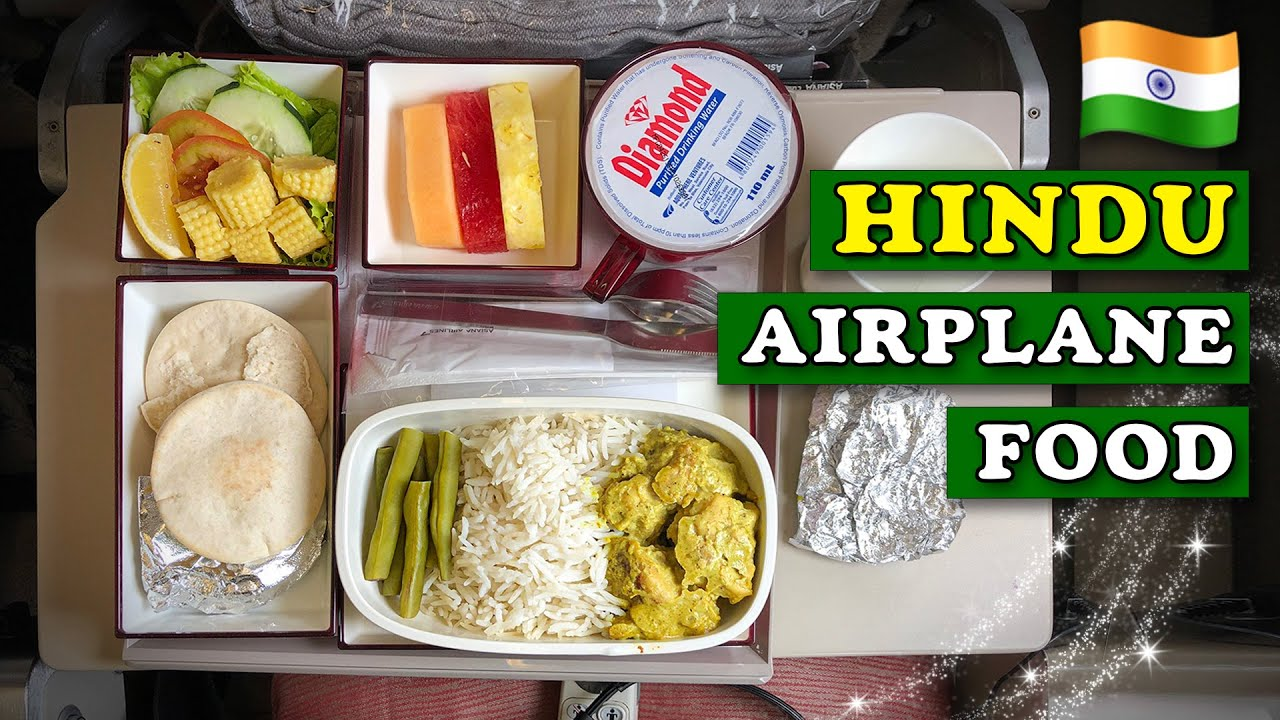 HINDU AIRPLANE FOOD on Asiana ✈️ From Manila to Seoul