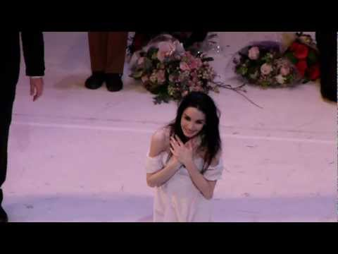 Tamara Rojo - Curtain call at the Royal Ballet farewell performance 21 Feb 2013.MTS