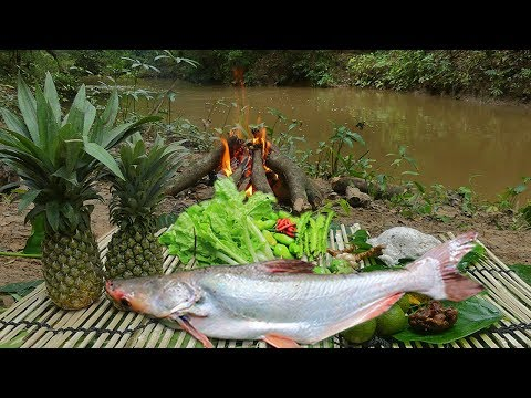 Yummy Fish with Pineapple Recipe | Cooking Fresh Fish With Pineapple In The Forest