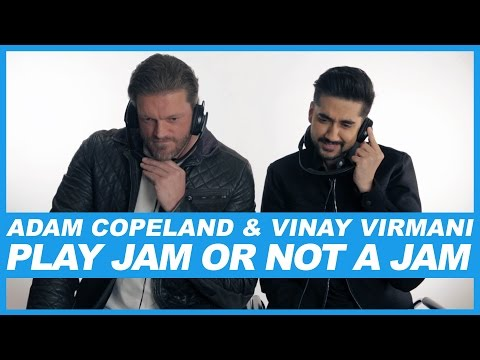 WWE Wrestler The Edge aka Adam Copeland & Comedian Vinay Virmani play 'Jam Or Not A Jam'