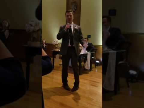 Sean Cahill best man speech