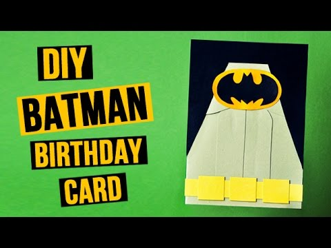 Diy batman birthday card youtube bookmarktalkfo Choice Image