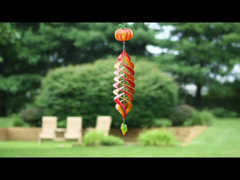 Plow and Hearth Hanging Metal Wind Spinner with Harvest Design on QVC