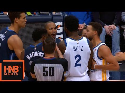 Devin Harris & Jordan Bell Skirmish / GS Warriors vs Mavericks