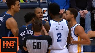 Devin Harris & Jordan Bell Skirmish / GS Warriors vs Mavericks
