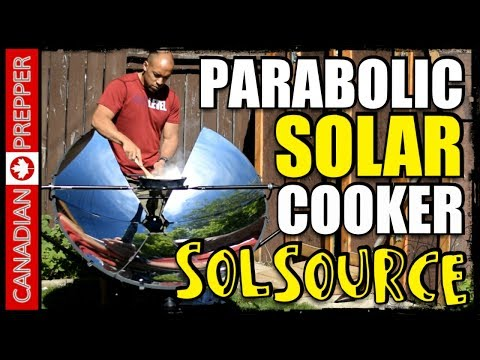 Cooking with the Sun: SolSource Parabolic Solar Cooker