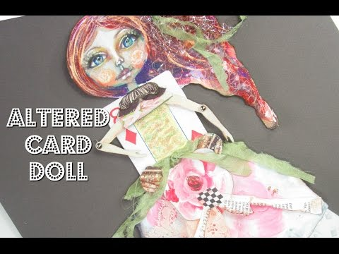 DIY Art Paper Doll Merida | Mixed Media Brave Art - #LoveSummerArt