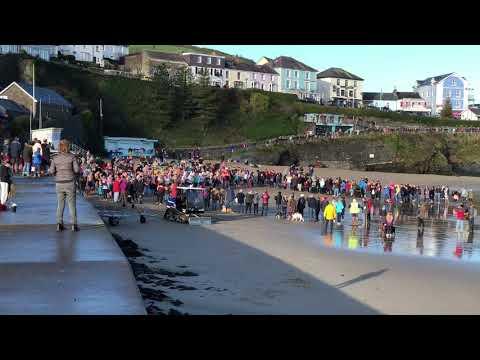 New Quay, Ceredigion - New Years Swim 2018