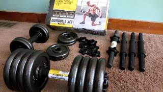 Unboxing Of Golds Gym 40 LBS Ddjustable Cast Dumbbell Set