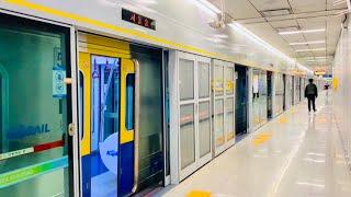 수인분당선 서울숲역 진입,발차 / Suin-Bundang Line. Seoul forest station