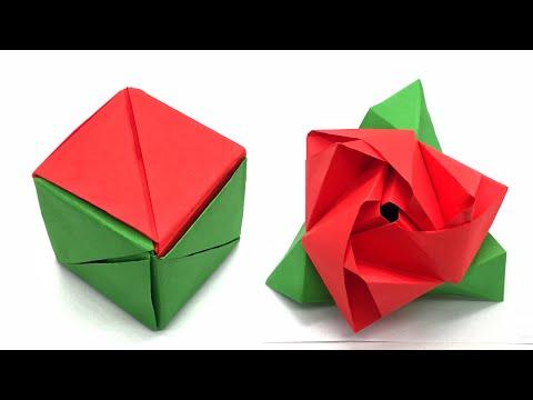 Magic Rose Cube - DIY Origami Tutorial by Nature Folds - 92