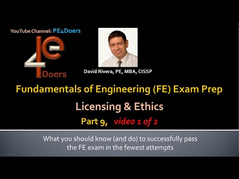 fe-exam-prep-part-9,-video-1,-the-professional-practice,-licensing-and-ethics-questions