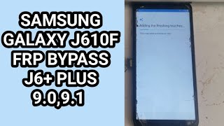 Samsung Galaxy J610F Frp Bypass without pc 2020 / Samsung J6+ Plus Google Account Bypass /