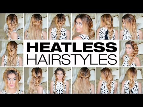 Easy 3 Minute Heatless Hairstyles