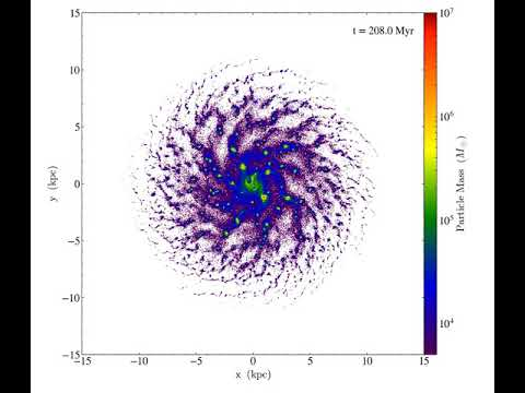 Stellar mass evolution in an isolated galaxy simulation